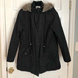 Winter jacket w/ fake fur hood